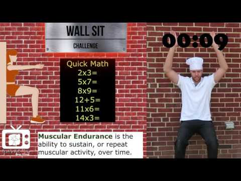 PE Chef S6E3: Wall Sit CHALLENGE- Muscular Endurance (5 Components of Fitness)