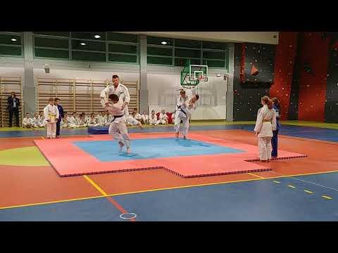 Pokaz UKS Judo Wolbrom z okazji otwarcia nowej hali sportowej w Wolbromiu