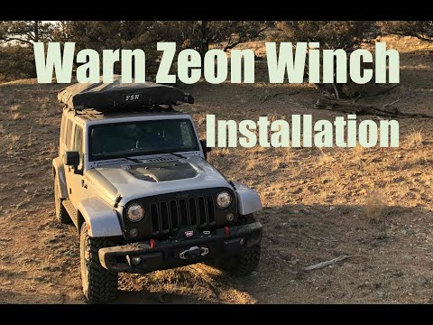 Warn Winch Install On Jeep Factory Steel Bumper