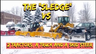 "Can the ""Sledge"" Mini Loader out plow 2 tractors, a skid and a Truck?"