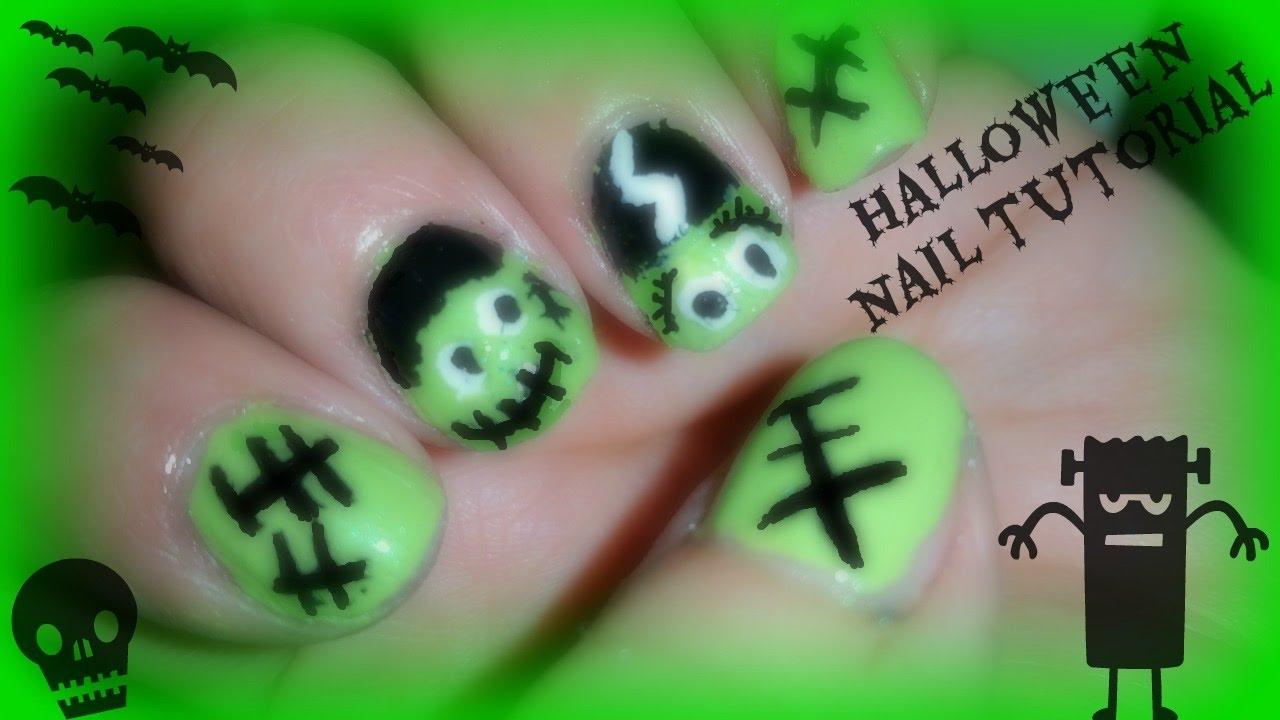 Nail Art Frankenstein His Bride