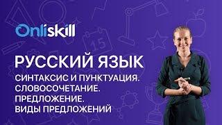 Русский язык 5 класс: Синтаксис и пунктуация. Словосочетание. Предложение. Виды предложений.