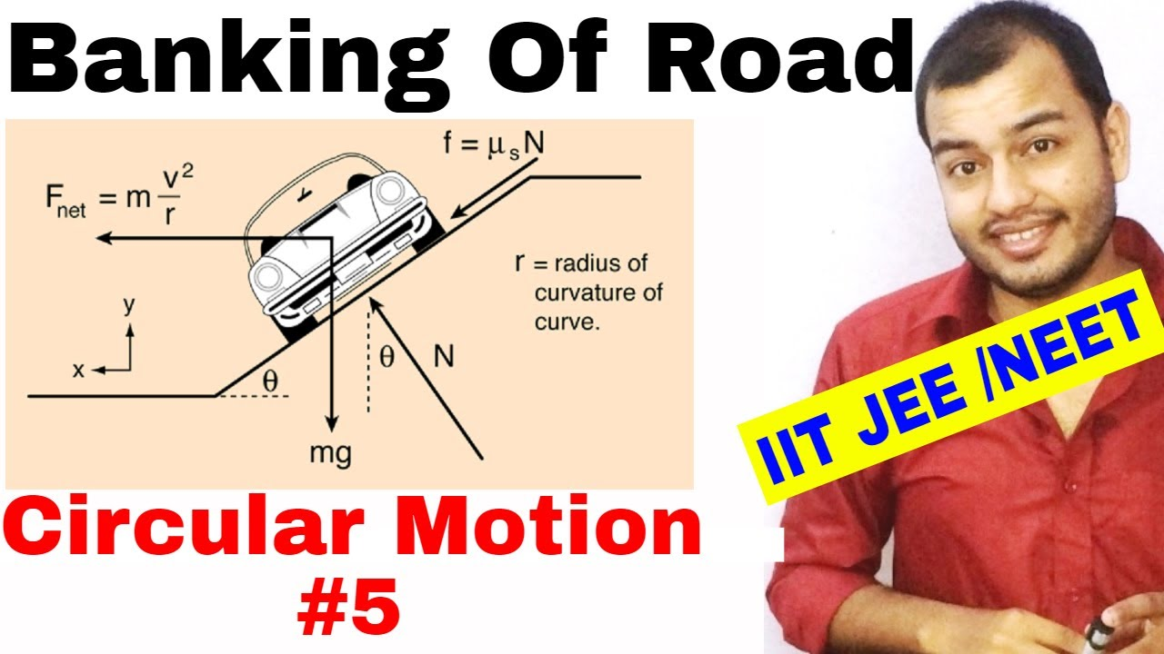 11 chap 4 | Circular Motion 05 | Banking Of Road IIT JEE NEET | Banking of  Road with Friction |