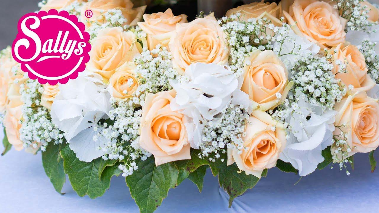 Diy blumengesteck blumenkranz f r die hochzeit meiner besten freundin youtube - Blumengestecke ideen ...