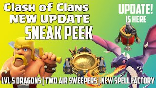 Clash of Clans   New UPDATE   Level 5 Dragons   Dark Spell Factory?