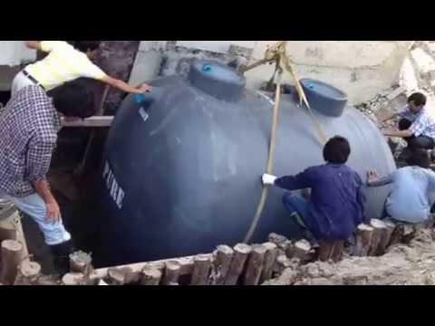 ถังบำบัดน้ำเสียแบบเติมอากาศไฟเบอร์กลาส20000ลิตรPURE