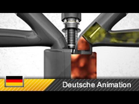 Viertaktmotor 4 Takt Motor Ottomotor Funktion Animation