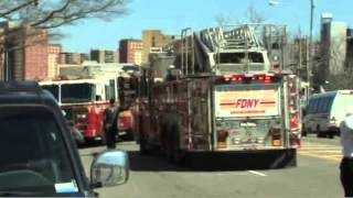 2 NYPD cops critically injured in Coney Island fire Audio NYPD 60 61 PSA 1 Audio LODD