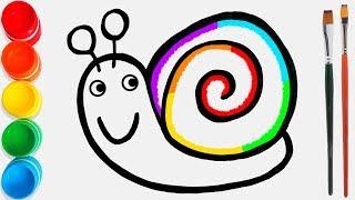 Cara Menggambar dan Mewarnai Siput Mainan #36 / Video Pendidikan untuk Anak-Anak