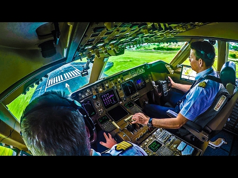 Piloting the Boeing 747 into Mauritius