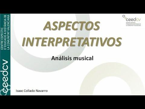 Análisis Musical. Aspectos interpretativos