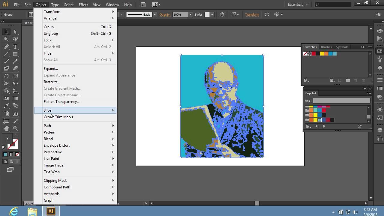 How To Create A Pop Art Effect In Adobe Illustrator Cs6 Youtube
