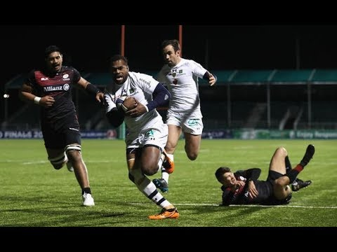 RAKA Beats ENTIRE Saracens Defense Crossfield on 4th Clermont Try