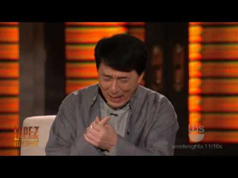 Lopez Tonight - Jackie Chan Interview [George Lopez is Not an ACTION STAR] Part 1 of 2