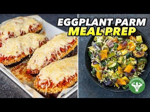 Healthy Comfort Food Meal Prep: Eggplant Parm & Veggie-Orzo Recipe