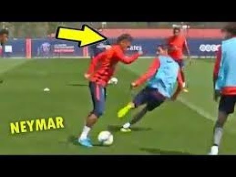 NEYMAR CRAZY SKILLS IN PSG TRAINING !! 10/08/2017
