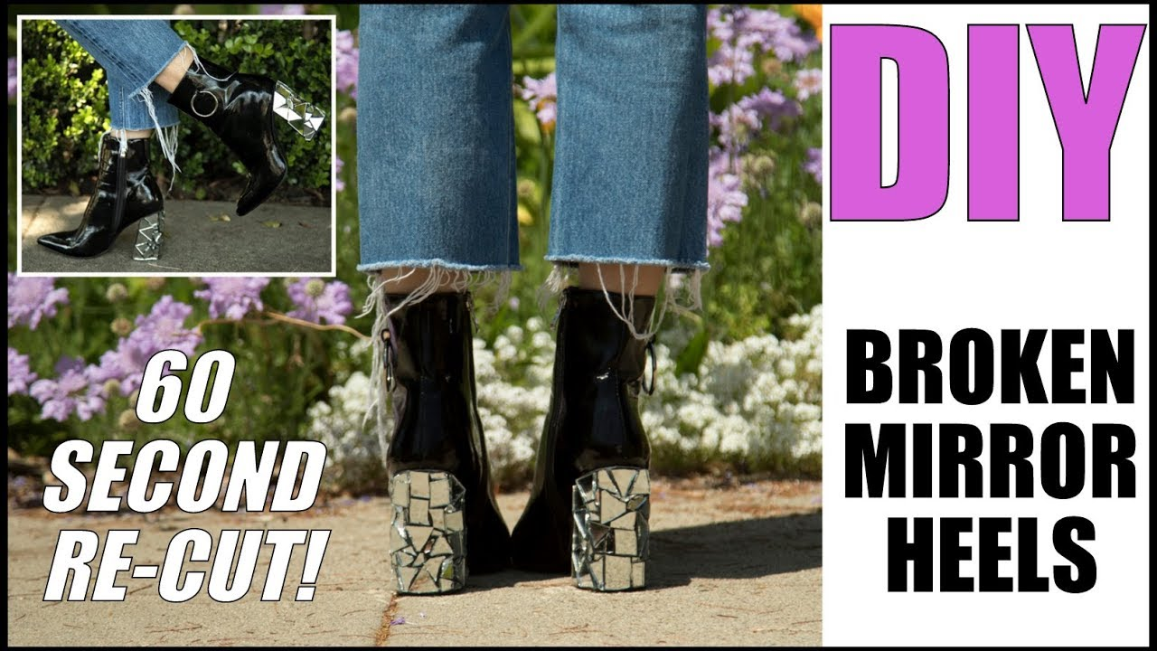 aac1ea549a5 (60 Sec Edit)- DIY Shattered Mirror Heels -By Orly Shani