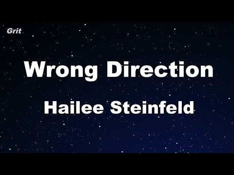 Karaoke♬ Wrong Direction - Hailee Steinfeld 【No Guide Melody】 Instrumental