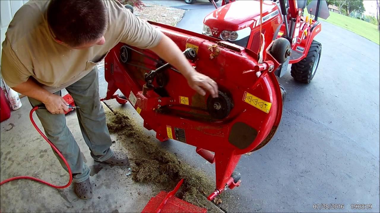 Tractor Snow Plow >> Massey Ferguson GC1705 50 Hour Service Tractor part 2 - YouTube