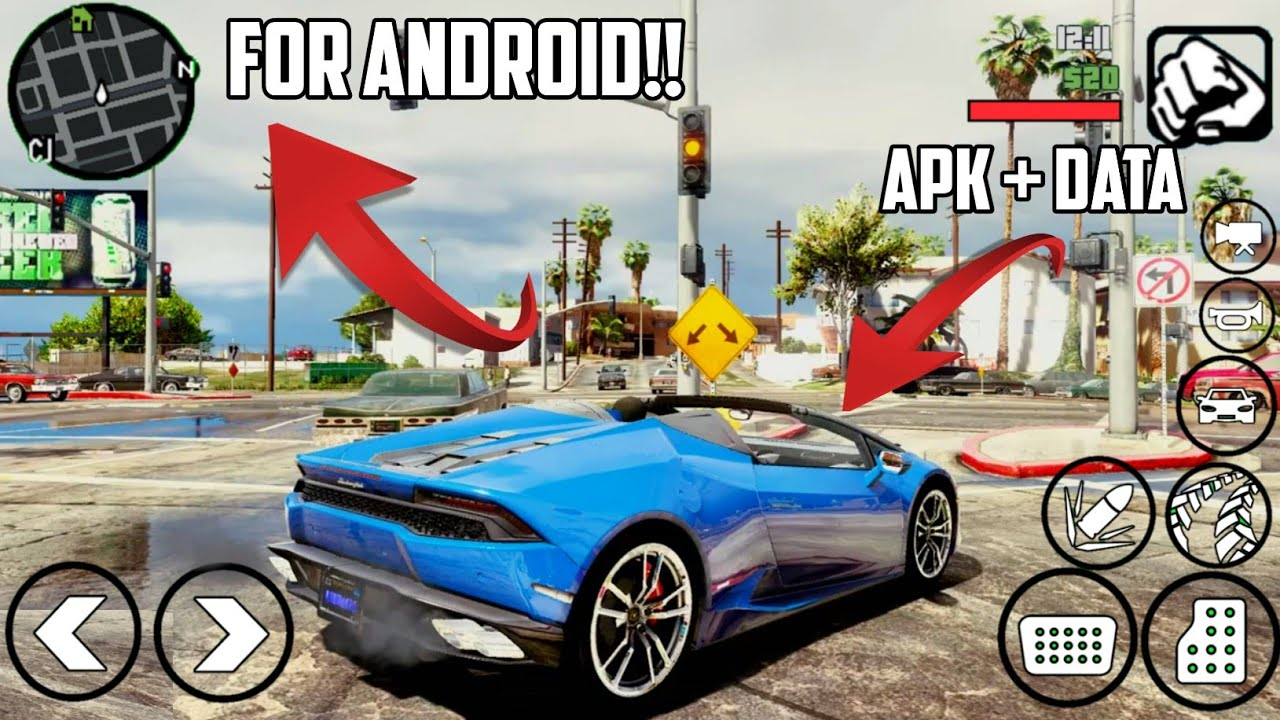 GTA V Android Ultra Graphics Modpack 2019   300 MB apk + data   Support all  devices