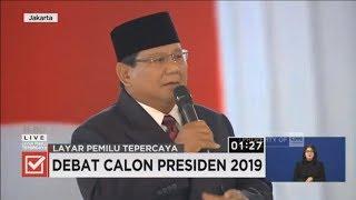 Momen Saat Prabowo Marahi Audience di Debat Keempat Capres