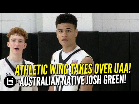 Australian Native Josh Green TAKES OVER UAA! 16 Year Old Athletic Wing