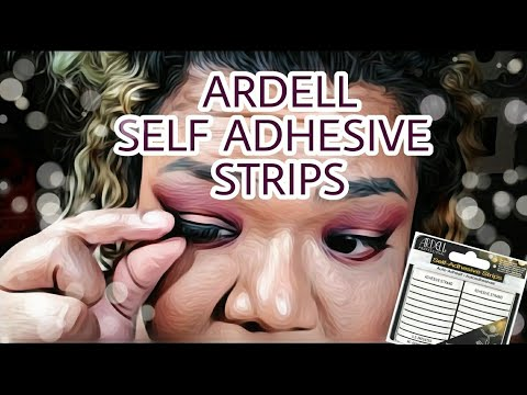 Ardell Self Adhesive Strips Review/Try On
