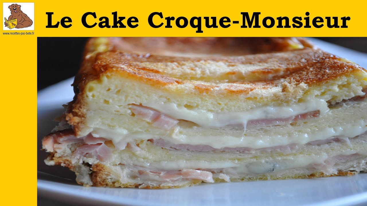 le cake croque monsieur youtube. Black Bedroom Furniture Sets. Home Design Ideas