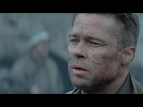 Brad Pitt Talks Playing A Badass In Fury YouTube - New official trailer fury starring brad pitt