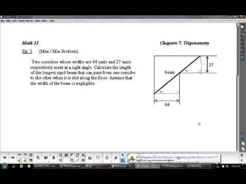 U5L7 Applications of Trigonometry Derivatives: Calculus