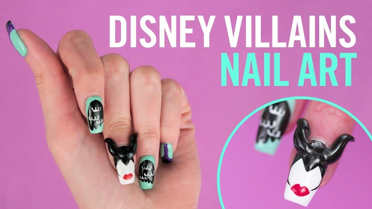 Disney Villains Nail Art Tips By Disney Style Youtube