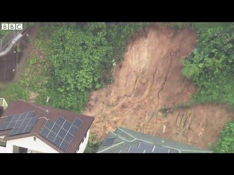 Rain hampers Japan landslide search, BBC News