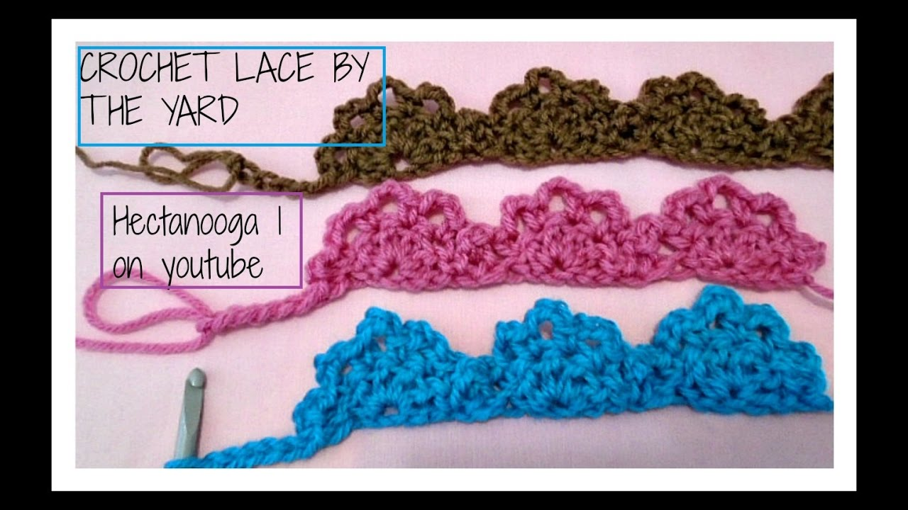 How To Crochet Lace By The Yard Edging Trim Embellishment
