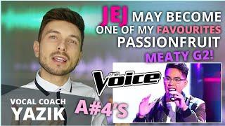 Download Vocal Coach YAZIK reacts to Jej Vinson - Passionfruit (The Voice US)