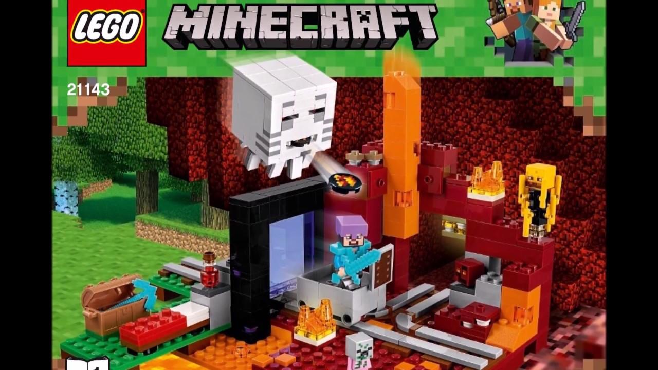 LEGO Minecraft the Nether Portal 100 Instructions Book DIY 10
