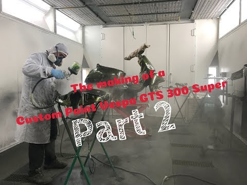 The making of my Vespa GTS 300 Super! Part 2 Candy paint