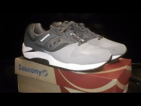 189cb0f9 Saucony GRID 9000 Grey Charcoal Unboxing - YouTube