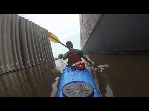 "Kayaking alongside the ""Edward L. Ryerson"" Superior Wisconsin - July 2015"