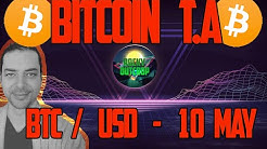 Bitcoin (BTC/USD) - Daily T.A with Rocky Outcrop -  May 10th Technical Analysis & Price Predictions
