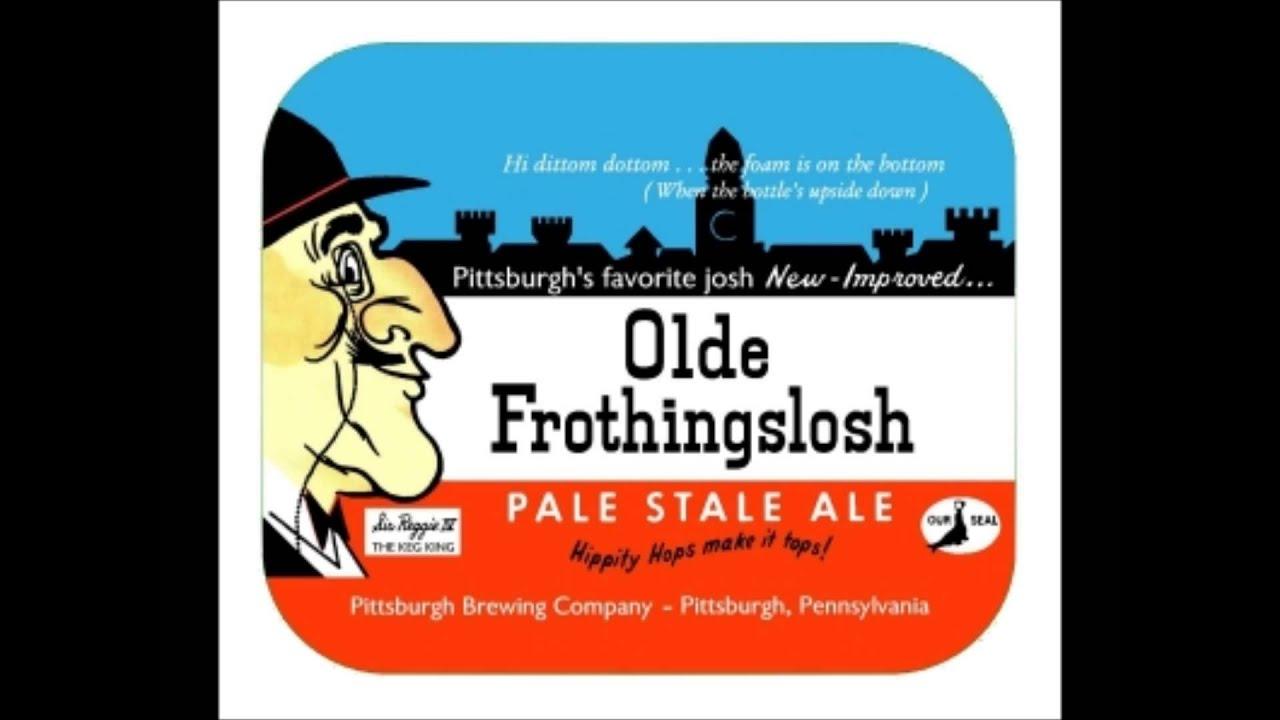 Pittsburgh OLDE FROTHINGSLOSH ALE Beer Label SHERLOCK HOLMES PENNSYLVANIA