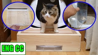 Handmade offertory box to prevent scattering of cat sand! That may make cleaning easier!?【Eng CC】