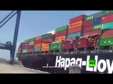 تصادم سفينتي شحن عملاقتين في ميناء كاراتشي  - نشر قبل 1 ساعة