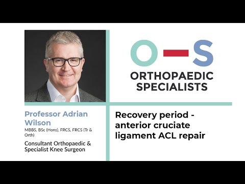 Recovery period - anterior cruciate ligament ACL repair