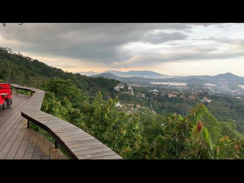 Ванильная Семья на вершине горы!!! Мы в ресторане с панорамным видом на залив !!!!