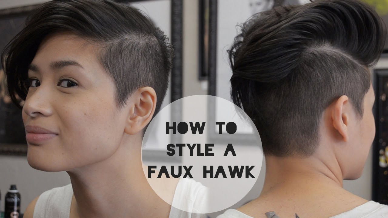 how to style a faux hawk with short hair how to style a faux hawk 2 hairstyles w reina demoss 3743 | maxresdefault