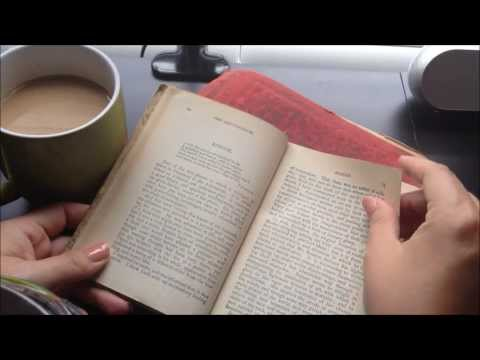 ASMR old book: tapping, reading, and flipping pages