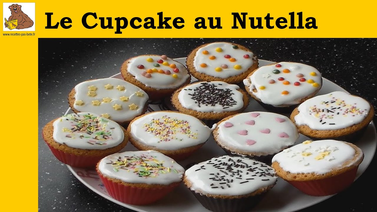 cupcake au nutella recette facile et rapide youtube. Black Bedroom Furniture Sets. Home Design Ideas