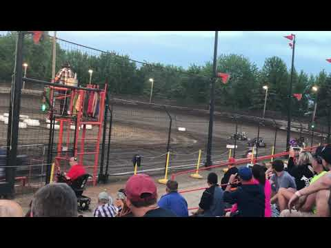 Badger Midget flips and goes over fencing