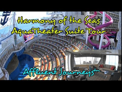 Harmony Of The Seas 2 Bedroom Aquatheater Suite Tour In