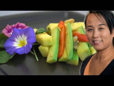 Stir Fry Spicy Courgette (Chinese Spicy Vegetable Stir-Fry Recipe) Asian Cooking